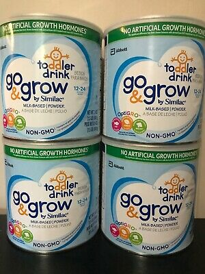 Lot Of 4 Similac Go and Grow Non-gmo Toddler Drink Powder, 24oz - Exp. 11/2019
