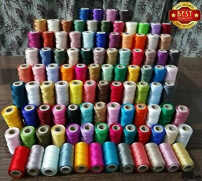 Best 100 Large Art Silk Rayon Sewing Embroidery Threads Spools Assorted Colours