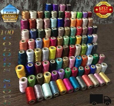 100 Spools Embroidery Stitching Set Silk Machine rayon embroidery Thread Sewing