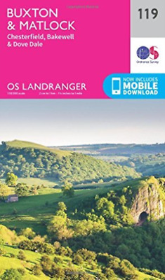 Ordnance Survey-Buxton & Matlock, Chesterfield, Bakewell & Dove Dale NEW