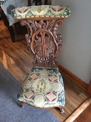 *RARE*  Antique Vintage Ornate Prayer Chair Seat