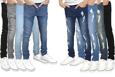 SK-1 Boys/Kids/Youths Super Skinny Stretch Ripped Distressed Faded Jeans, BNWT