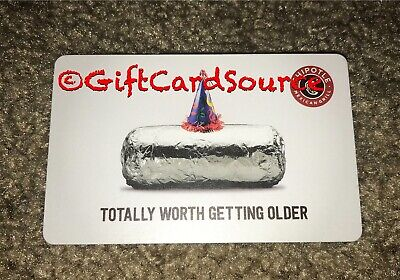 2015 Chipotle Gift Card Burrito Totally Worth Getting Older Collectible New