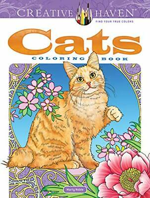 Creative Haven Cats Coloring Book by Marty Noble