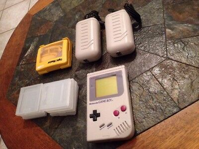 Game Boy Classic / Fat + Rechargeable Battery X 2 + Boîtes Vides + Loupe