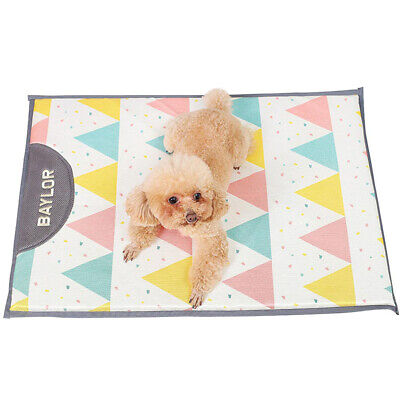 Summer Pet Cooling Mat Dog Cat Puppy Ice Silk Soft Sleeping Cooling Pad 3 Types