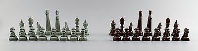 SVEN Wejsfelt for Gustavsberg, complete set of chess pieces in ceramics. ca 1980