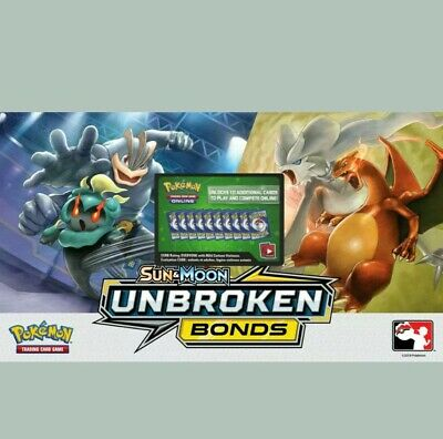 50x Sun And Moon Unbroken Bonds Pokemon TCGO PTCGO TCG Online Codes Cards  FAST