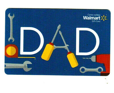 Walmart canada MINT GIFT CARD DAD BILINGUAL RECHARGEABLE !