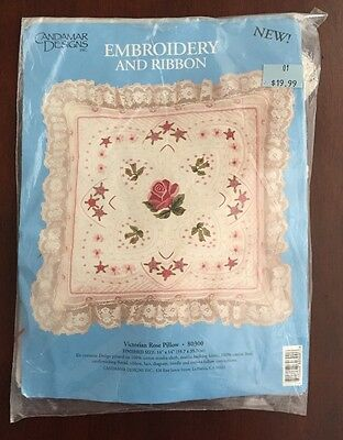 Candamar Designs Embroidery & Ribbon Kit Finished Size 14 X 14