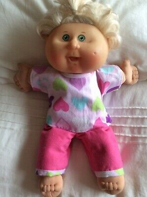 "DOLLS CLOTHES fit 14"" CABBAGE PATCH DOLL - Pyjamas. Hearts : Pink"