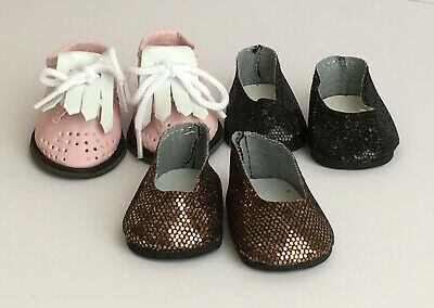 Fits American Girl, Our Generation, 18 inch 46cm 3 pairs Doll Shoes - Lot 4