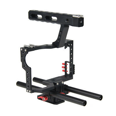 Camera Making Film Video Cage with 15mm Rod System Rig for A7/A7II/A7s/A7r/A7Rii