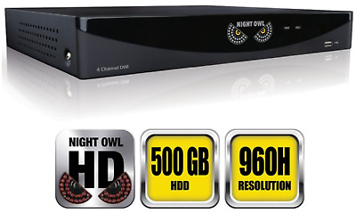 4 CHANNEL NETWORK Security DVR 1000GB H 264 CCTV 4CH