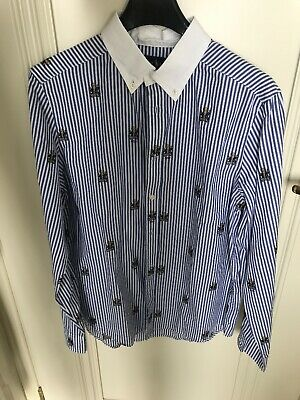 Polo Ralph Lauren Bear Shirt Ragazzo Camicia L 14 16 Kid Youth Striped New Boy