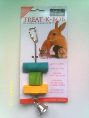 Small 'N' Furry Treat - K - Bob - Treat Dispensing Toy - New -