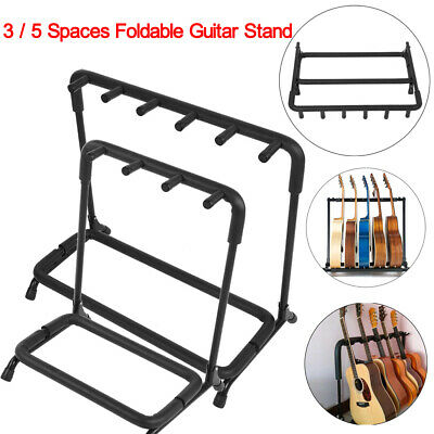 3 5 Holder Guitar Rack Stand For Multiple Guitars Electric Acoustic Bass Folding