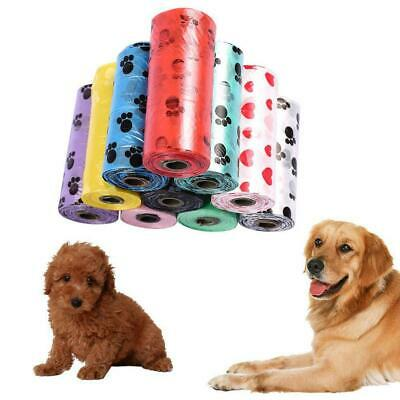 1/5/10 Roll Degradable Pet Waste Poop Bags Dog Cat Clean Up Refill Garbage Bag