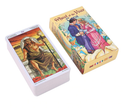 Wheel Of The Year Tarot Read Fate Card Game Board 78 card Deck divination oracle
