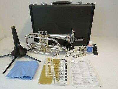 Yamaha YCR-2330II Silver Plated Bb Cornet with Extras