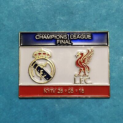 Liverpool vs Real Madrid Champions League Final 2018 Pin Badge