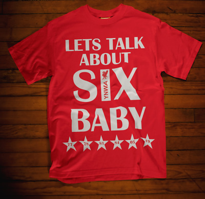 LFC Lets Talks about 6 Baby T-shirt Liverpool European Cup Winners Klopp  2019