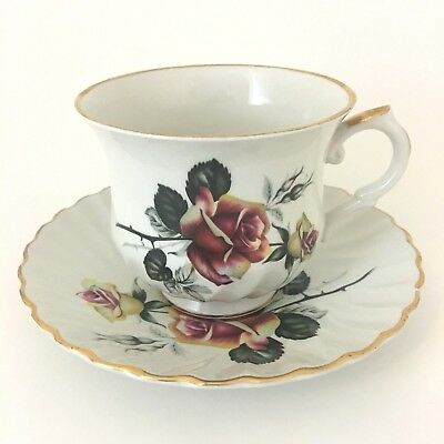 Old Foley Montrose Teacup And Saucer James Kent LTD Staffordshire England Gold T