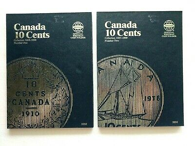 Whitman Canadian Coin Folders 10 Cent Volumes I & II