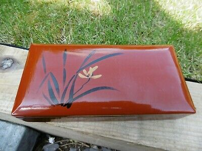 Japanese fine lacquered box hand painted