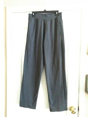 54b261f66 LULULEMON ATHLETICA PANTS Dark Heather Grey Size L XL Stretch Loose ...
