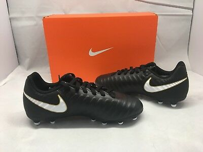 05494240064c NIKE $35 Black JR TIEMPO RIO IV Firm Ground SOCCER CLEATS Shoes Youth Sz 2 Y