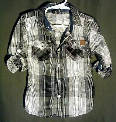 Children's Boys baby clothes size lot  Button up American Hawk 4T shirt