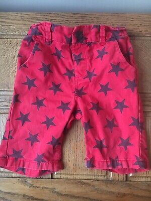 Boys Girls Next Shorts Age 2-3 Years Red Star Blue VGC Summer Cargo Pants New