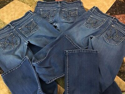0e1fb4e0 Womens Wrangler Q-Baby Booty Up Ultimate Riding Jean LOT of 3, Size 11