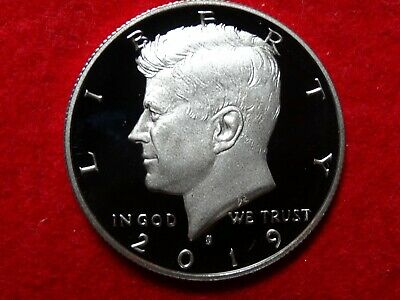 2019 S Kennedy Frosty Proof Deep Cameo 99.9% Silver Half Dollar Item #23R