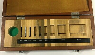 Mitutoyo 516-929 CASE for 9pc Rect. Steel Gage Block Set, with 3 Misc. Blocks