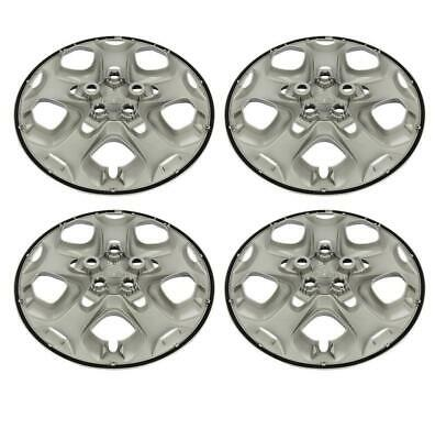 """For 2010-2012 FORD FUSION 17"""" Silver Bolt-on Hubcaps Wheelcover"""