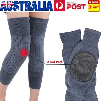 Heater Knee Warmer Sleeves Kneecap Wool Leg Sleeve Winter Warm Thermal Heating B