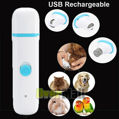 Rechargeable Dog Nail Grinder Clipper Trimmer for Pet Professional Grooming Tool