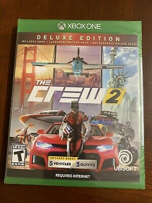[New Sealed] Crew 2 Xbox One 4K - Deluxe Edition Includes 5 Vehicles & 3 Outfits