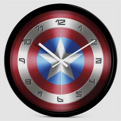 Marvel Avengers Captain America Shield Wall Clock Decoration Cosplay Prop Gift