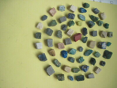 ANCIENT ROME . 1-2 century . Set of 60 pieces of color  stone mosaic .