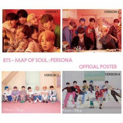 Bts 방탄소년단 Map Of Soul: Persona - Folded /Unfolded Poster Ver. 1 /2 /3 /4