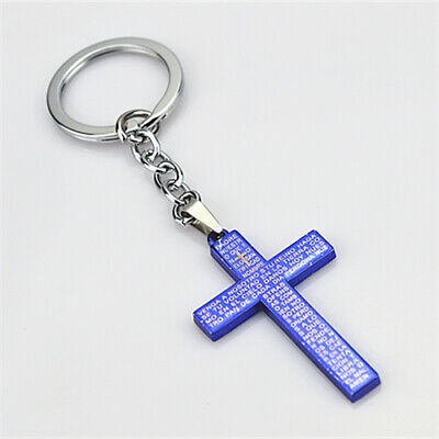 Religious Christian Holy Cross Keyring for Safety Traveling and Good Luck