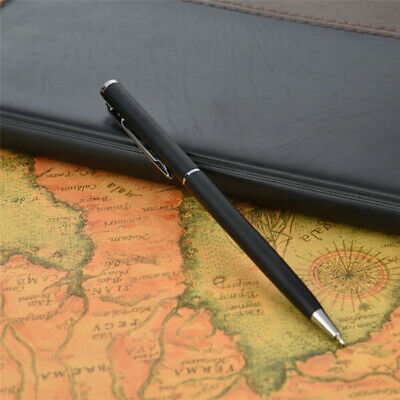 Stainless Steel Metal Ball Point Pen Black Ink School Stationery Office Supply