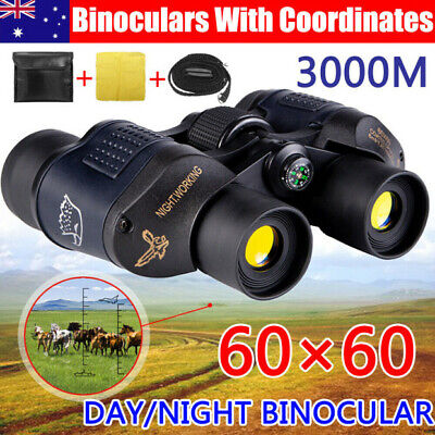 HD Hunting Binoculars 60x60 5-3000M Waterproof Day/Night Telescopes Coordinates