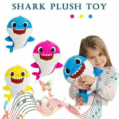 Peek-a-boo Singing Shark Baby Plush Toy Stuffed Animated Kids Music Gift Cute