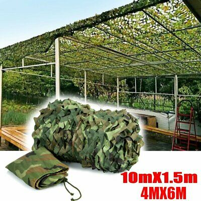 4M x 6M Camouflage Net Camo Hunting Shooting Hide Army Camping Woodland Netting