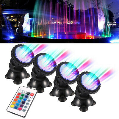 RGB LED Fish Tank Aquarium Underwater Spot Light Garden Pond Swiming Spotlight