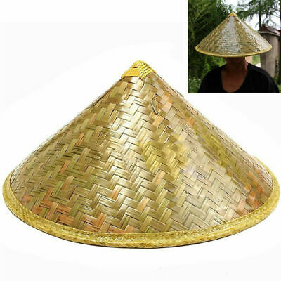 30035b012 Straw Bamboo Durable Chinese Oriental Sun Fish Hat Farmer Coolie Rice Hats  P5F1